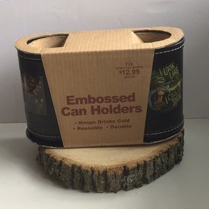 👔 Embossed Can Holder - New in Package